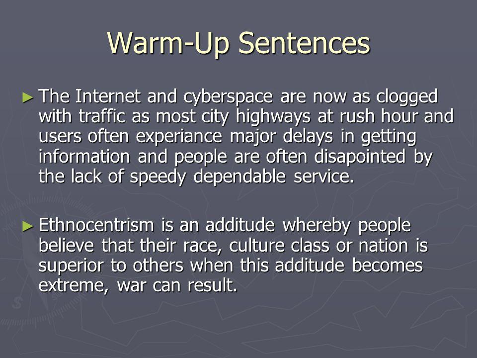 Warm-Up Sentences
