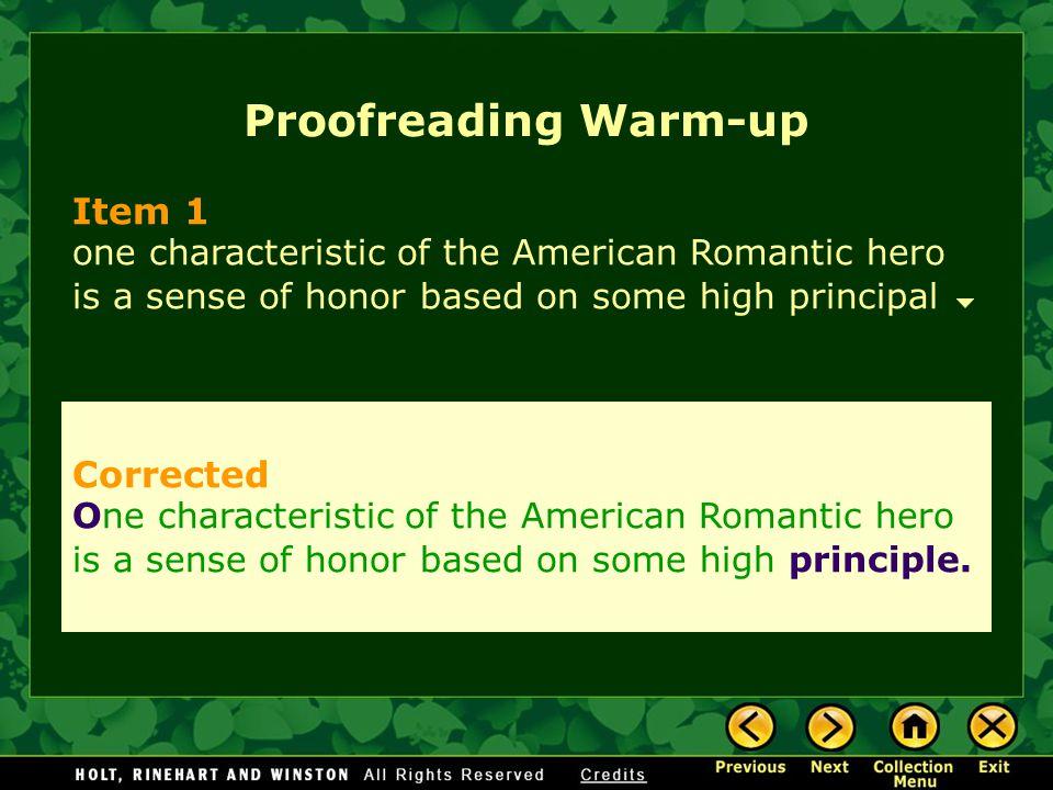Proofreading Warm-up Item 1 Corrected