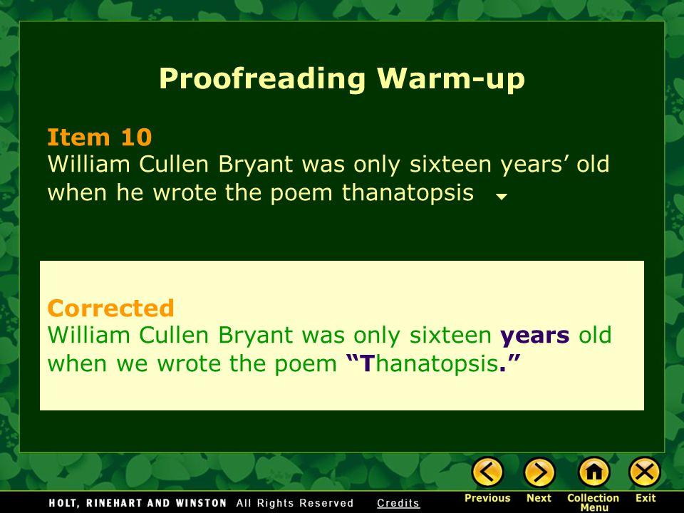 Proofreading Warm-up Item 10 Corrected