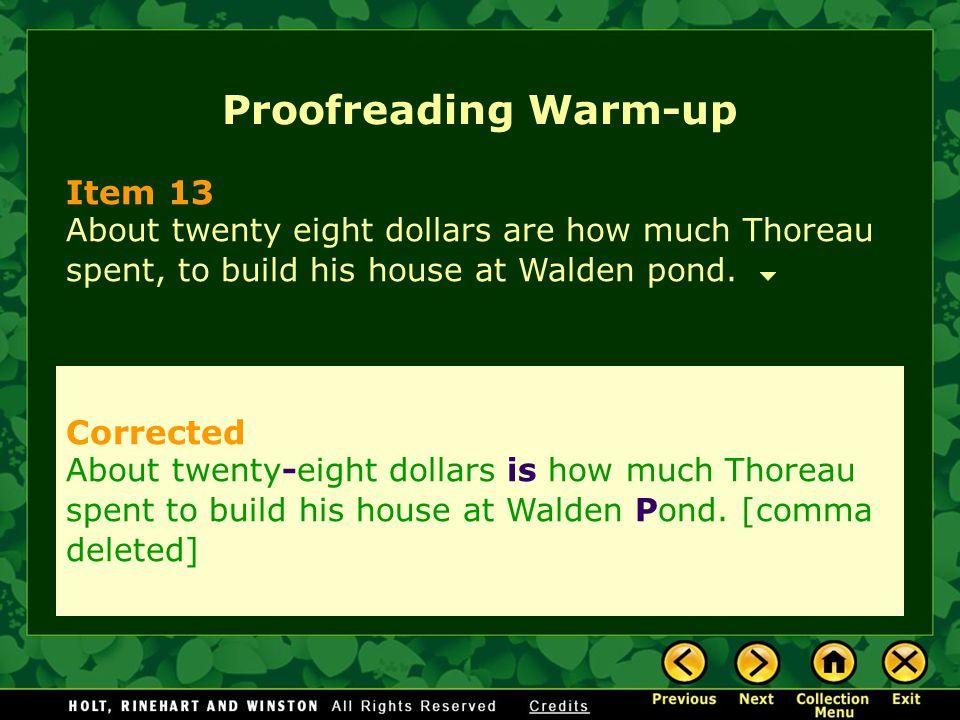 Proofreading Warm-up Item 13 Corrected