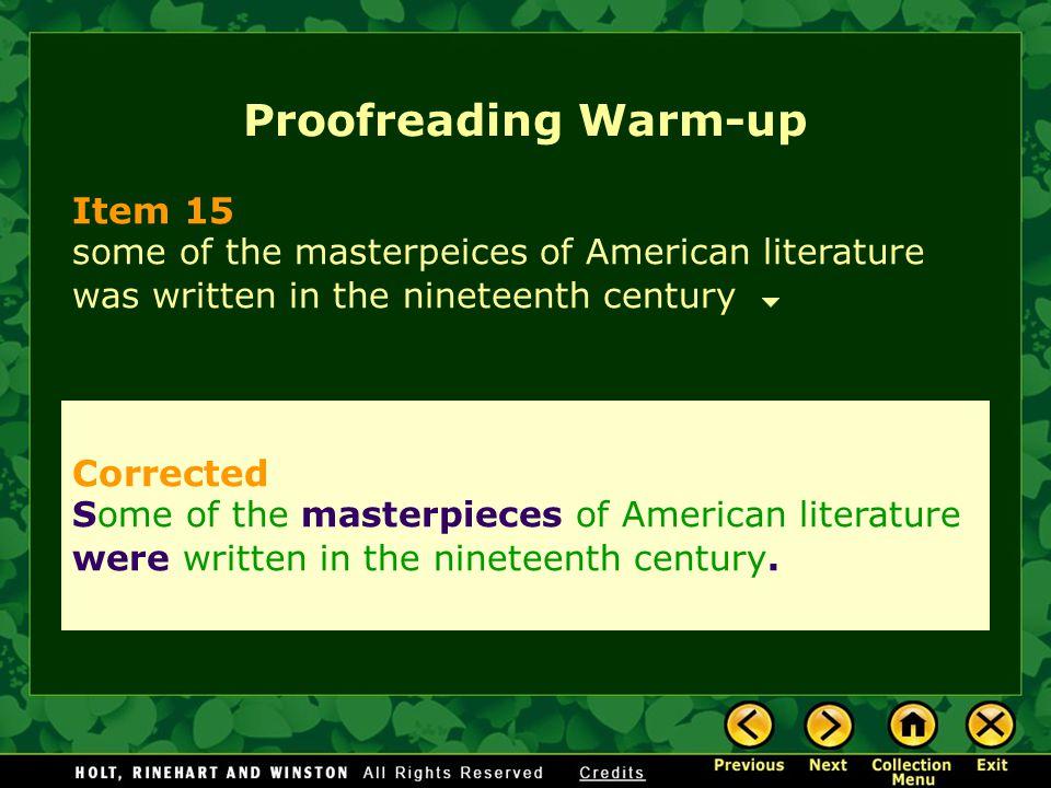 Proofreading Warm-up Item 15 Corrected
