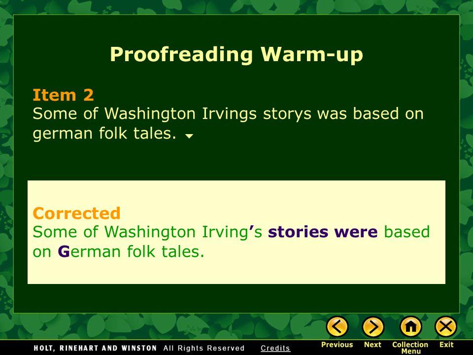 Proofreading Warm-up Item 2 Corrected