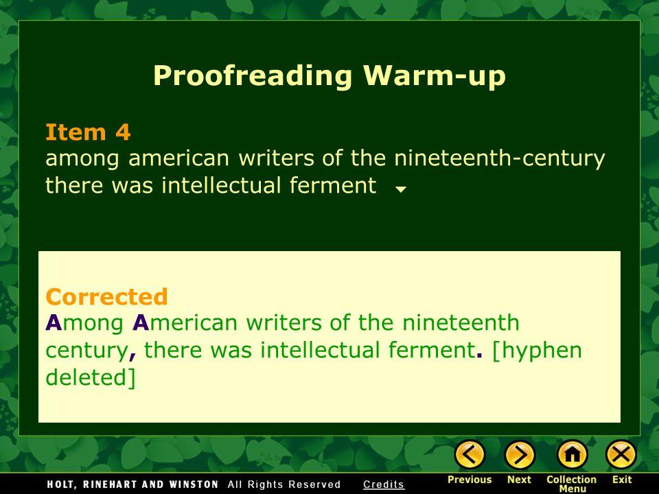 Proofreading Warm-up Item 4 Corrected