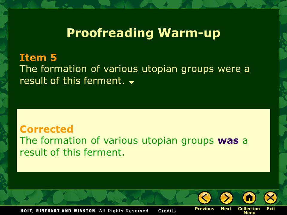 Proofreading Warm-up Item 5 Corrected