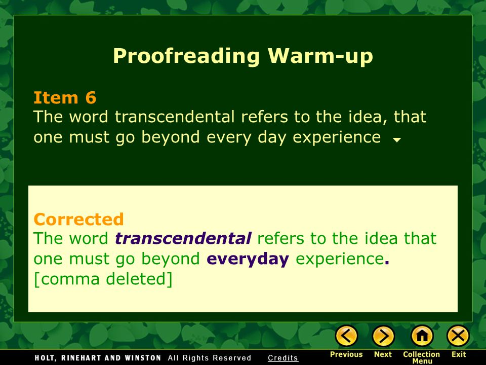 Proofreading Warm-up Item 6 Corrected