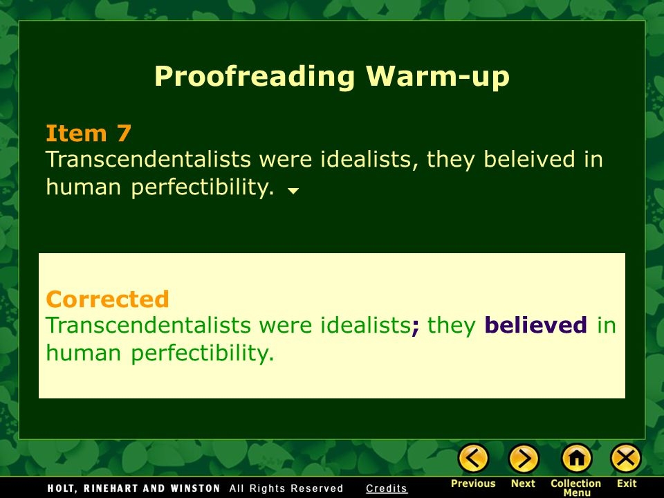 Proofreading Warm-up Item 7 Corrected