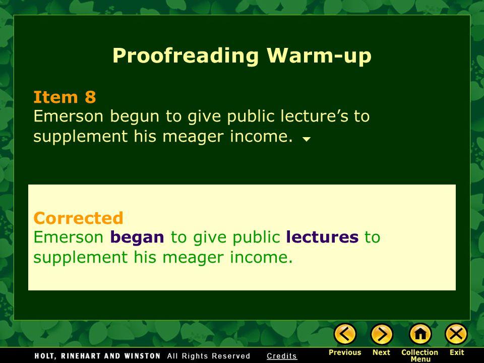 Proofreading Warm-up Item 8 Corrected