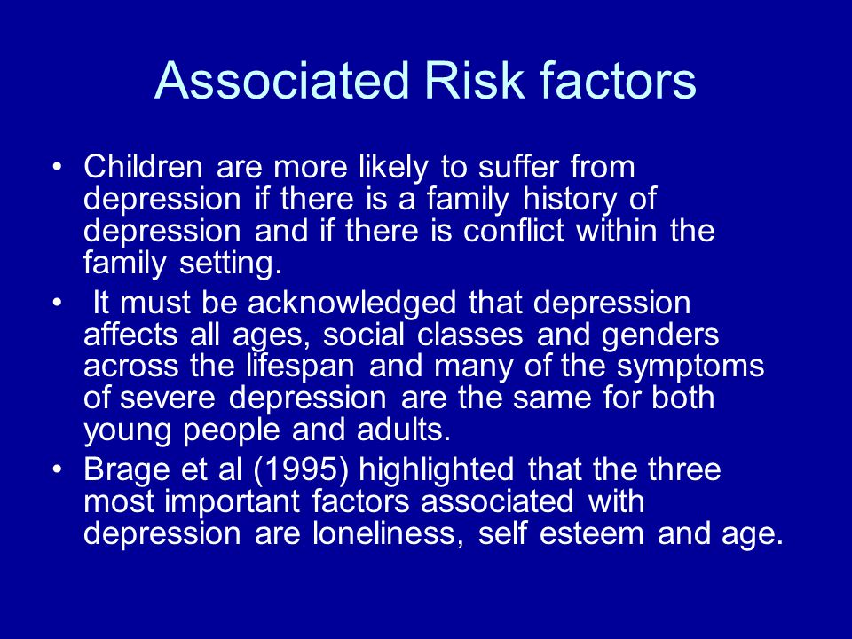 Associated Risk factors
