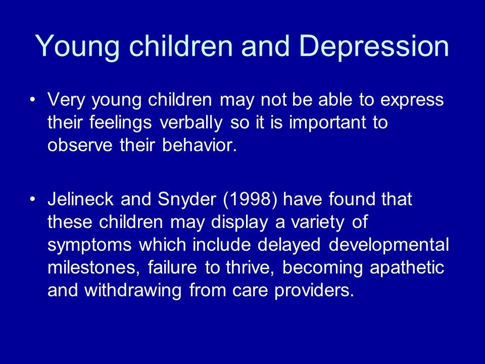 Young children and Depression