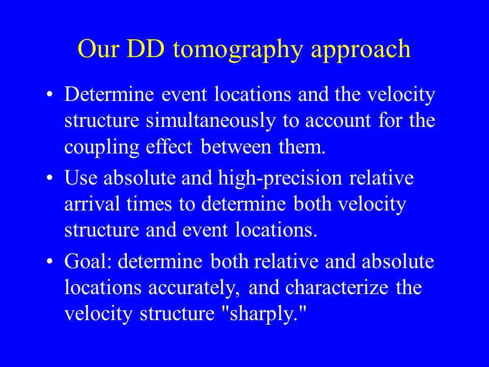Our DD tomography approach