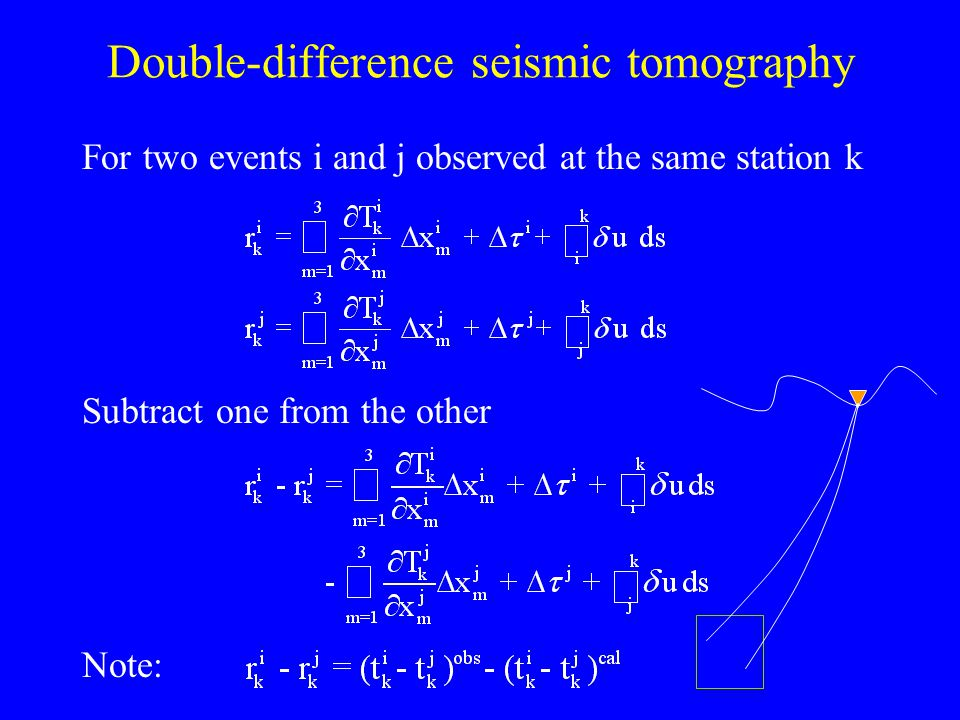 Double-difference seismic tomography