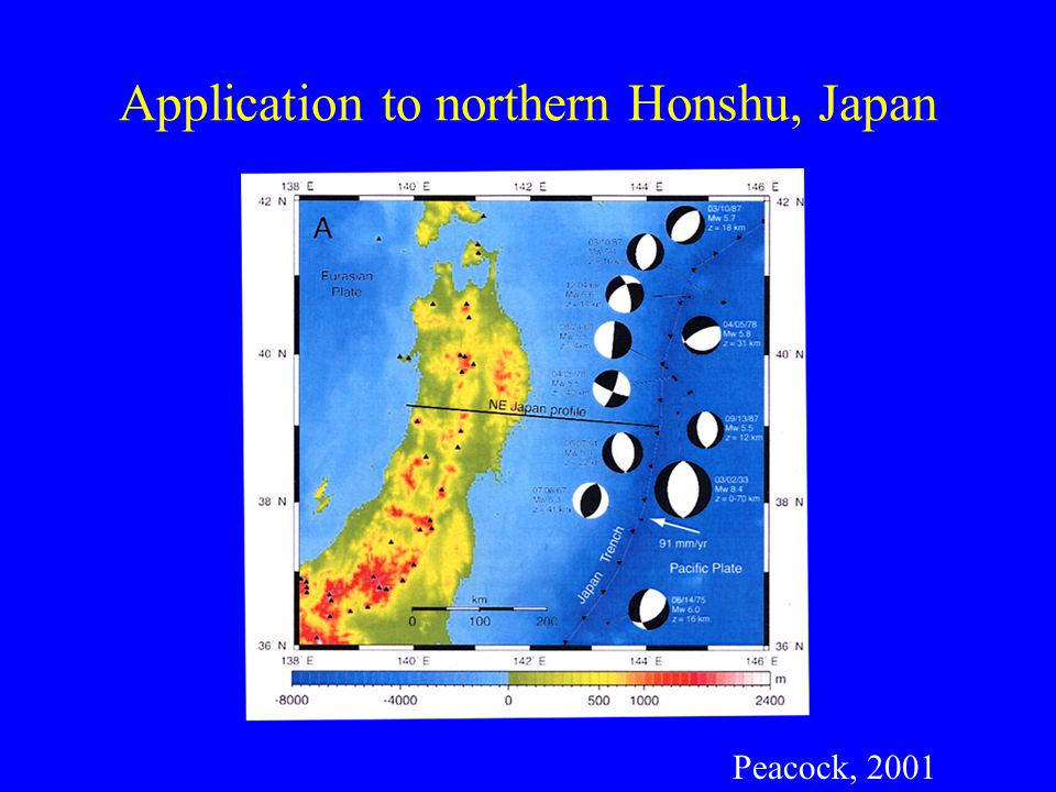 Application to northern Honshu, Japan