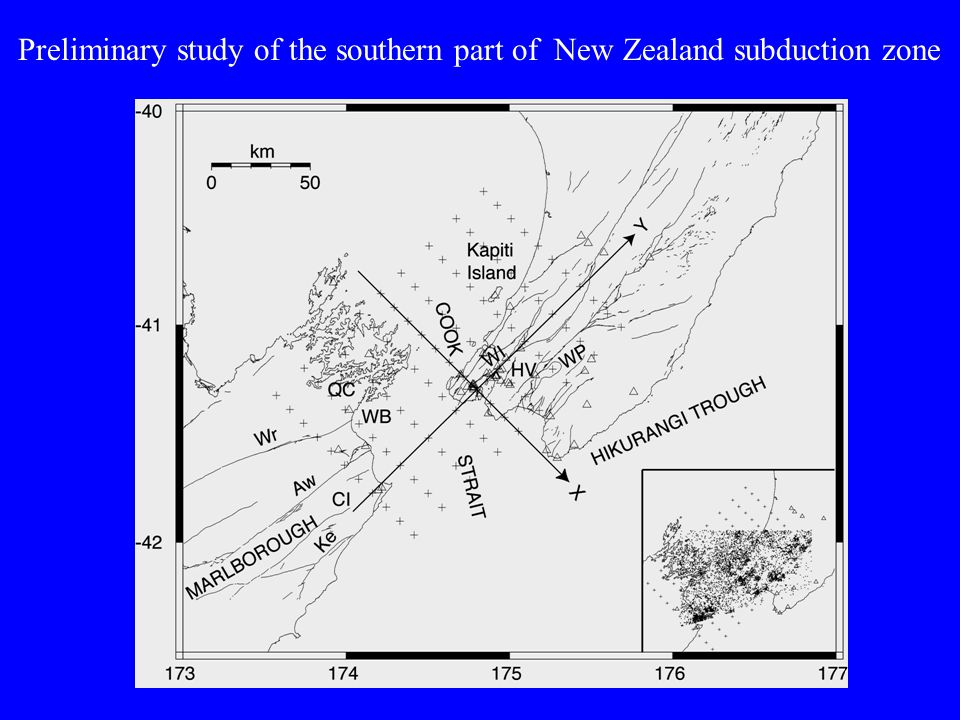 Preliminary study of the southern part of New Zealand subduction zone