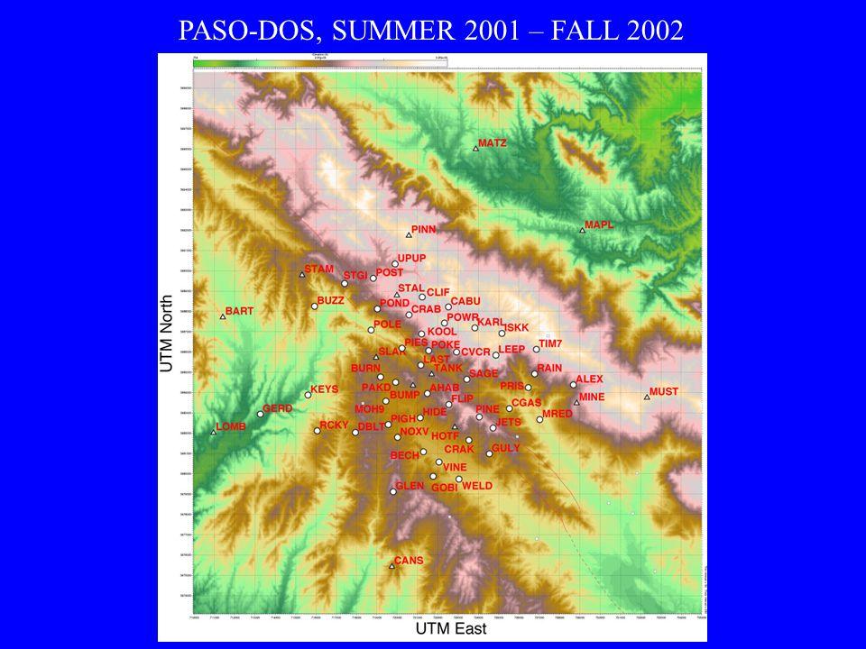 PASO-DOS, SUMMER 2001 – FALL 2002