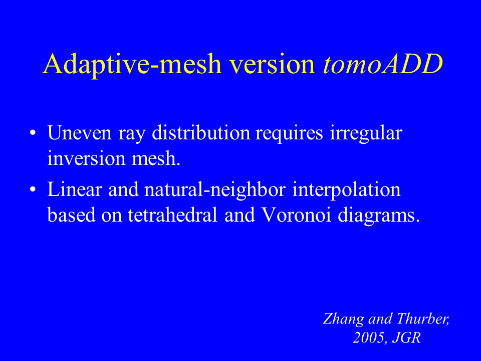 Adaptive-mesh version tomoADD