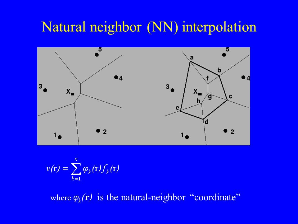 Natural neighbor (NN) interpolation