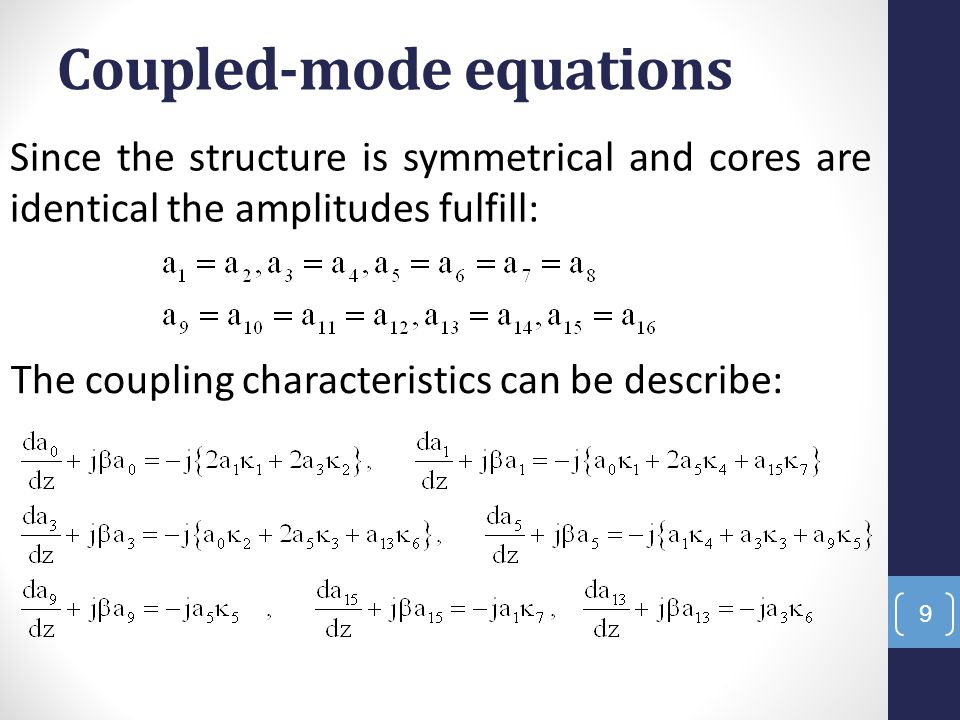 Coupled-mode equations