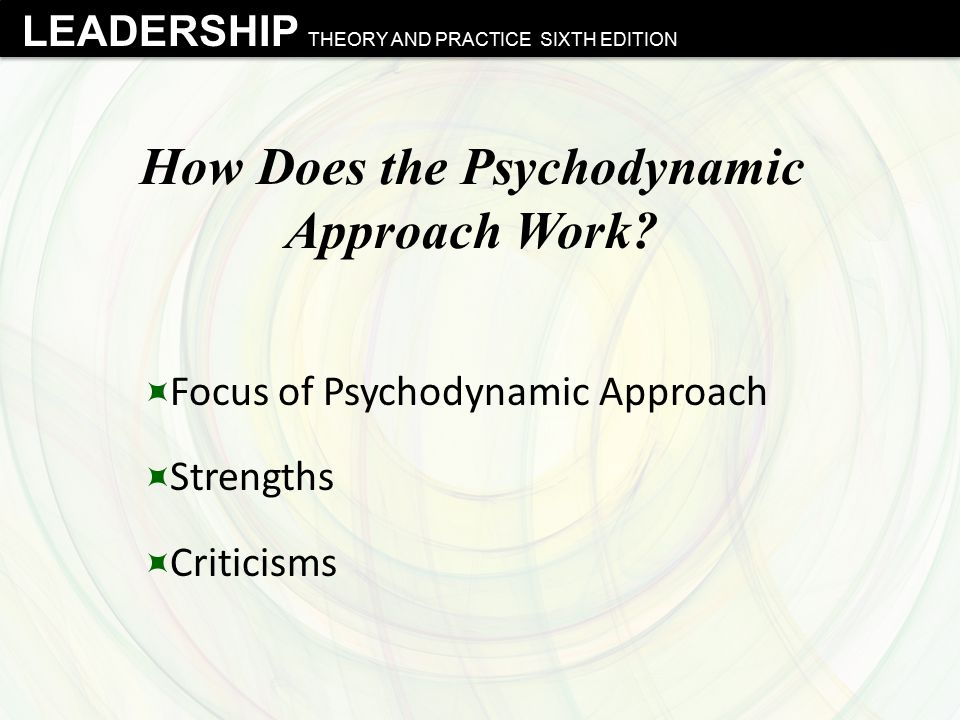 How Does the Psychodynamic Approach Work