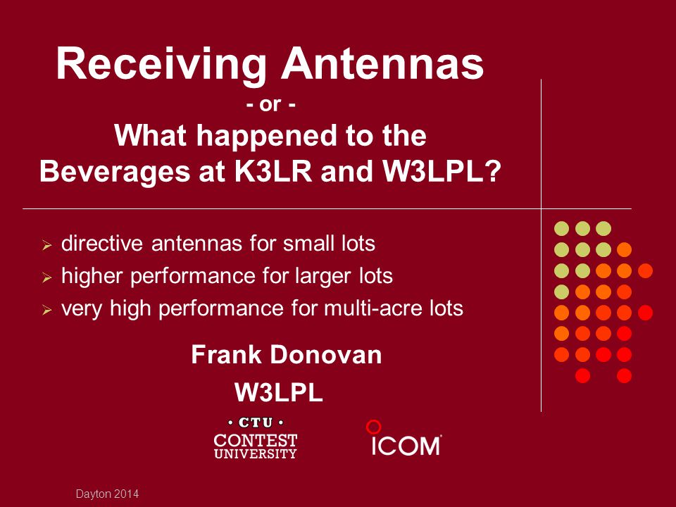 Receiving Antennas - or - What happened to the Beverages at K3LR and W3LPL
