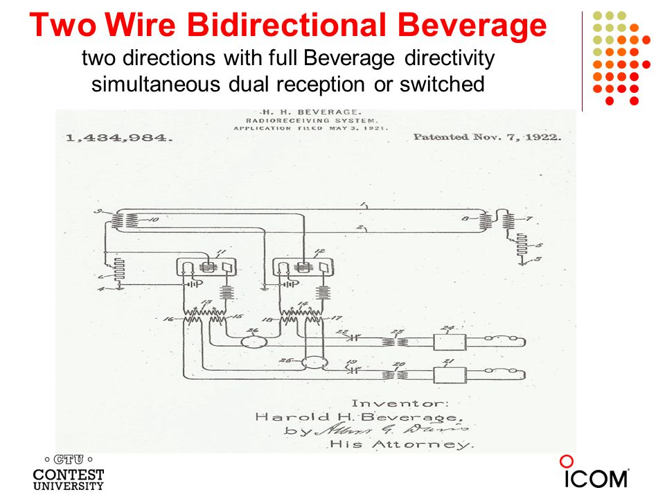 Two Wire Bidirectional Beverage