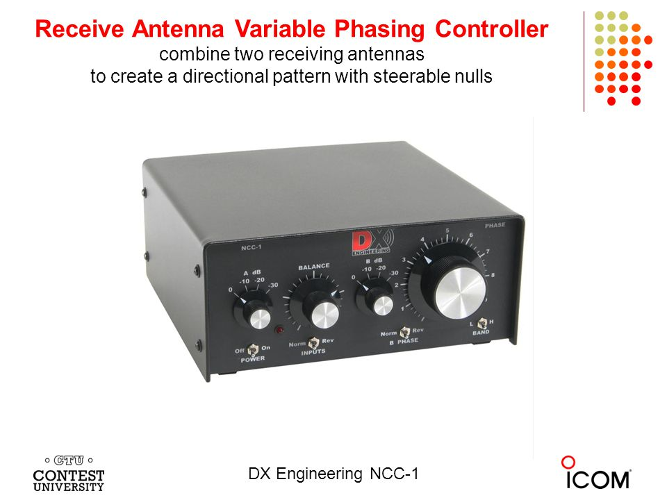 Receive Antenna Variable Phasing Controller