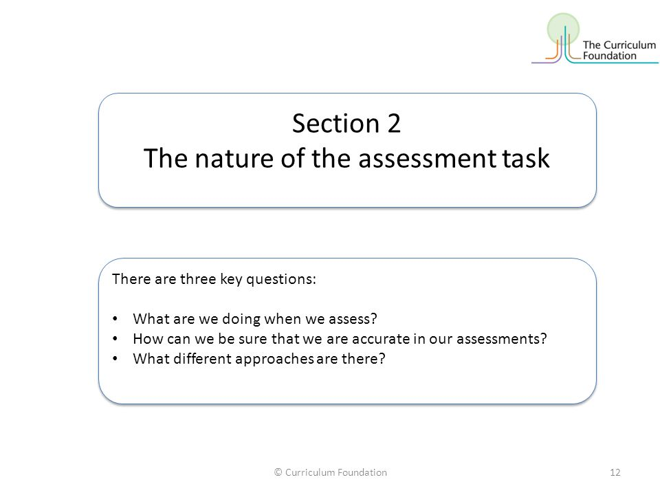 The nature of the assessment task