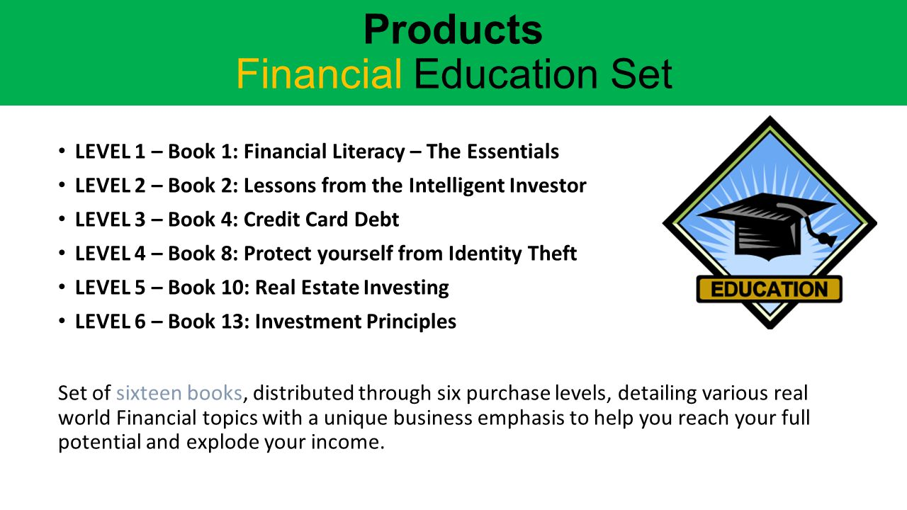 Products Financial Education Set
