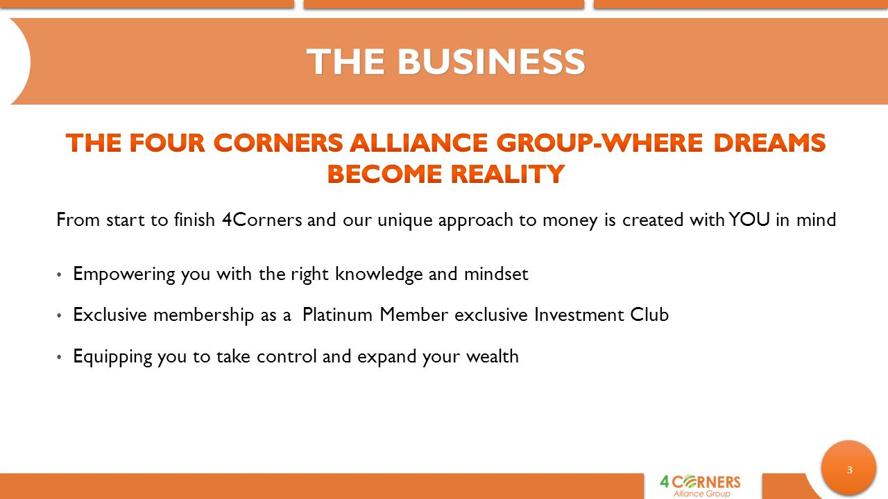 The Four Corners Alliance Group-Where Dreams Become Reality