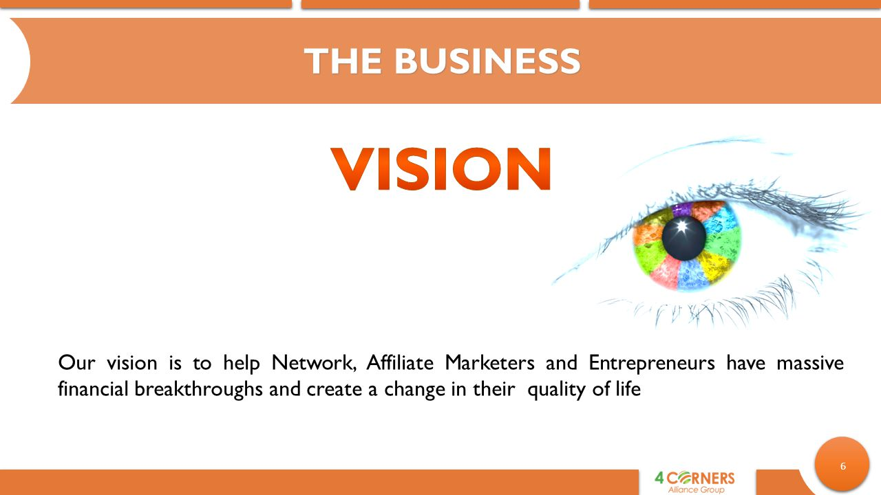 THE BUSINESS Vision.