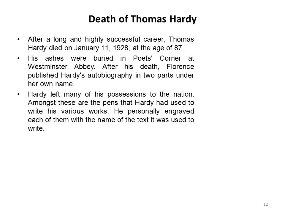 an introduction to the life and work by thomas hardy Through an examination of wide-ranging selections from his workpart i of  introduction part i: analysing thomas hardy's  thomas hardy's life.