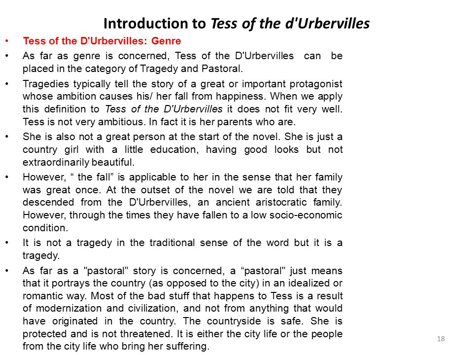 Introduction to Tess of the d Urbervilles