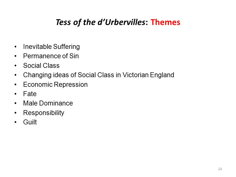 Tess of the d'Urbervilles: Themes
