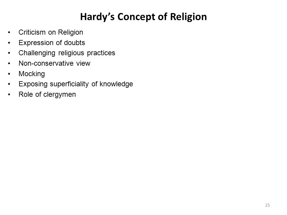 Hardy's Concept of Religion