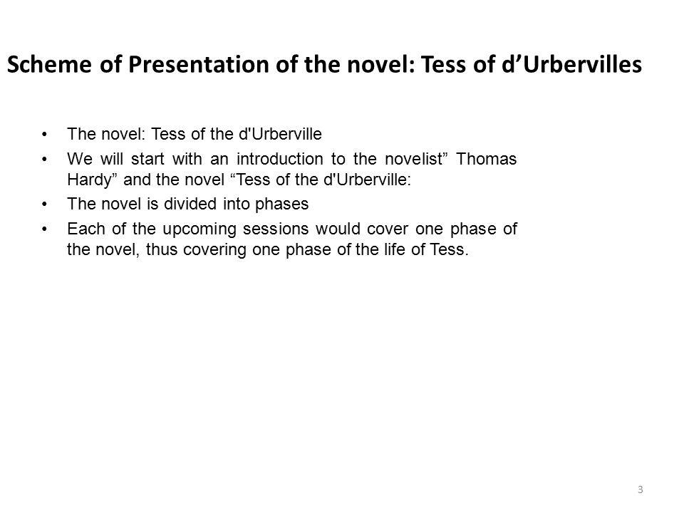 Scheme of Presentation of the novel: Tess of d'Urbervilles
