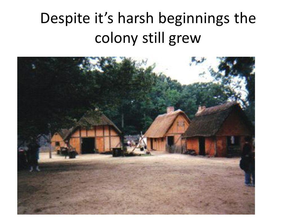 Despite it's harsh beginnings the colony still grew