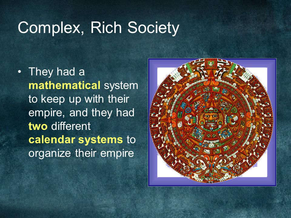 Complex, Rich Society