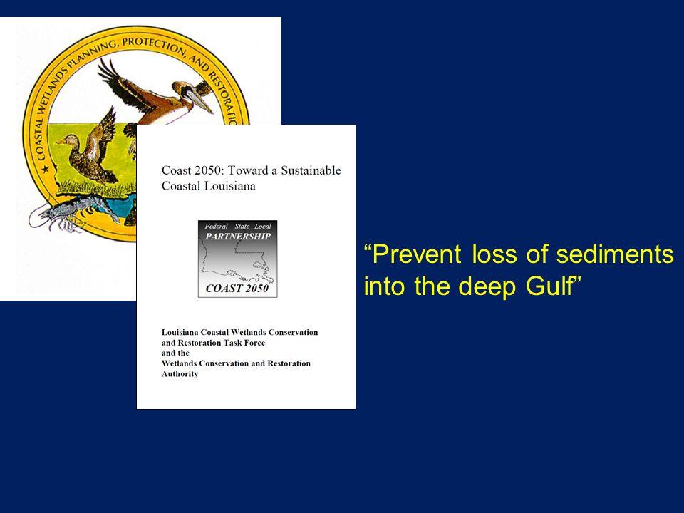 Prevent loss of sediments