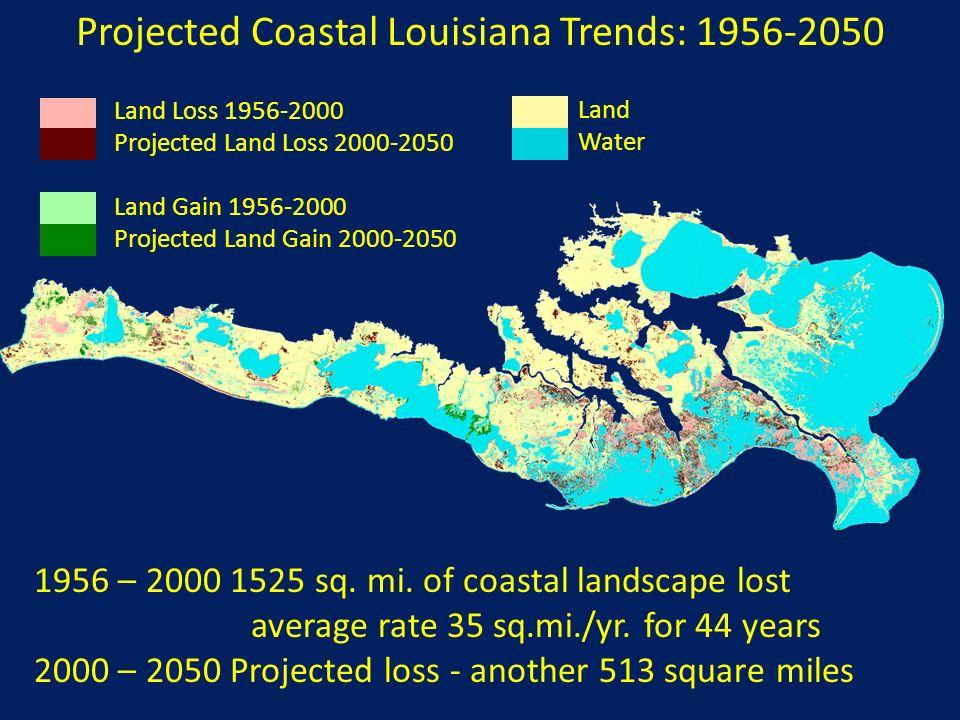 Projected Coastal Louisiana Trends: 1956-2050