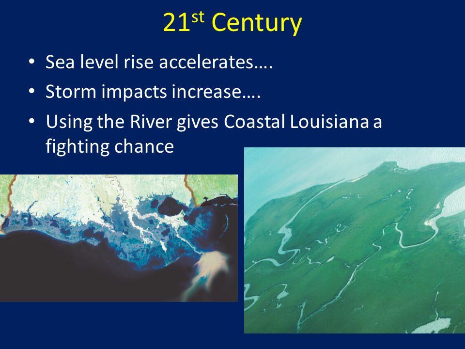 21st Century Sea level rise accelerates…. Storm impacts increase….