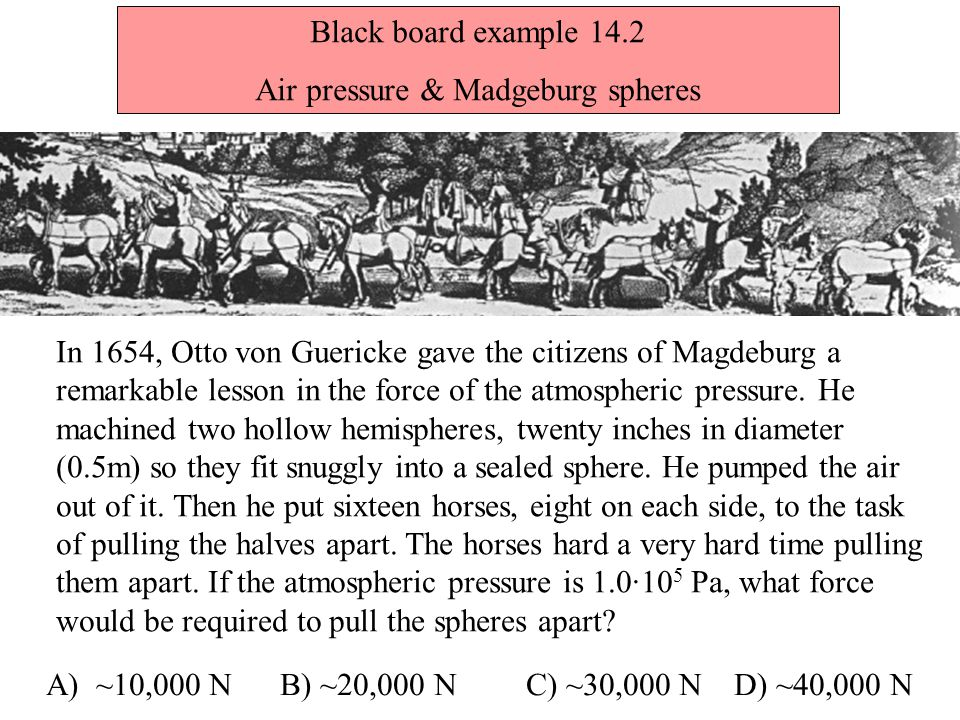 Air pressure & Madgeburg spheres