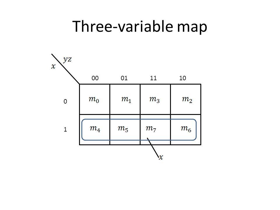 Three-variable map 00 01 11 10 1
