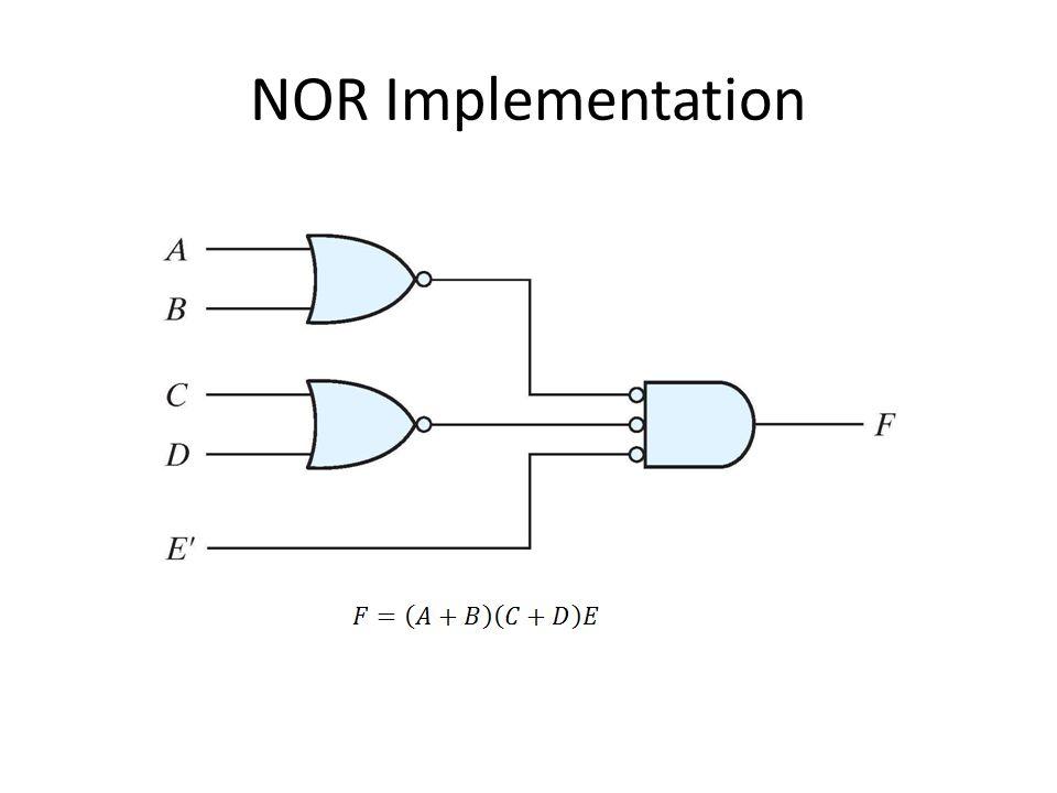 NOR Implementation