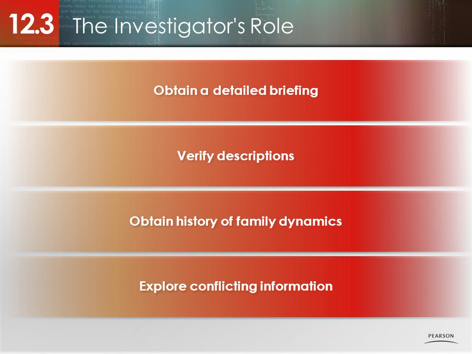 The Investigator s Role