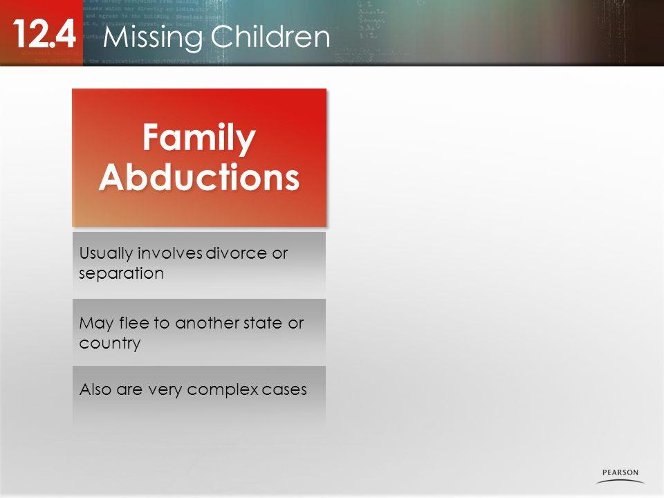 12.4 Family Abductions Missing Children
