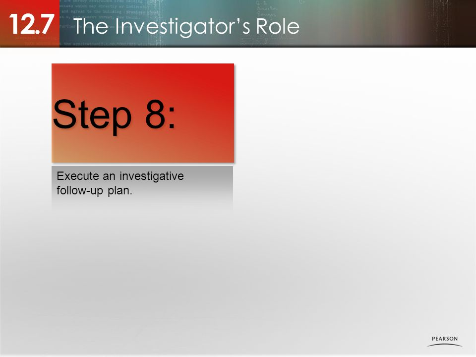 The Investigator's Role