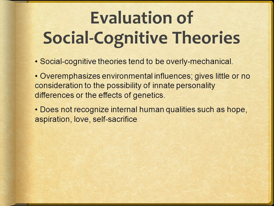 Evaluation of Social-Cognitive Theories