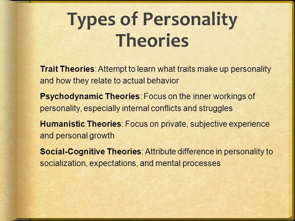 Types of Personality Theories