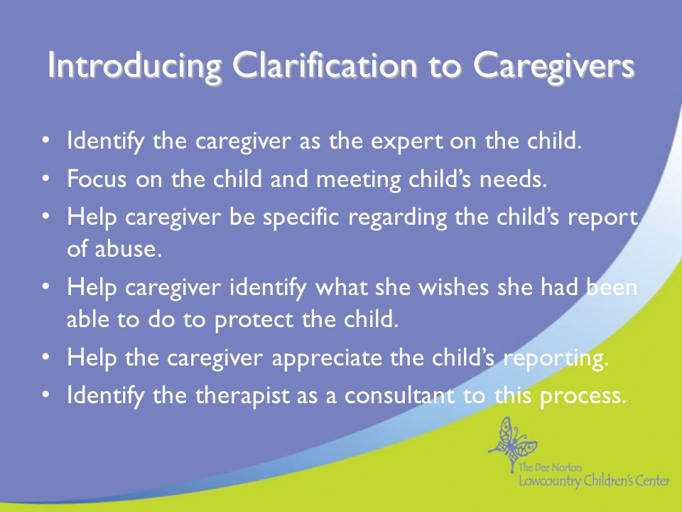 Introducing Clarification to Caregivers