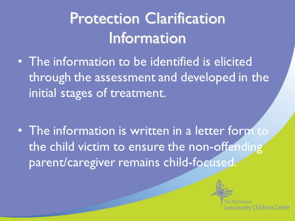 Protection Clarification Information
