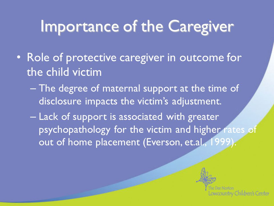 Importance of the Caregiver